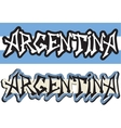 Argentina word graffiti different style vector image vector image