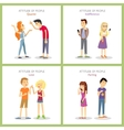 Attitude Quarrel Indifference Love Parting vector image vector image