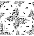 Beautiful seamless background of butterflies