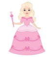Blond Princess vector image