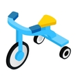 Blue tricycles isometric 3d icon vector image vector image
