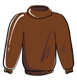brown sweater on white background vector image vector image