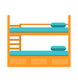 bunk bed with stairswooden bunk decker bed vector image