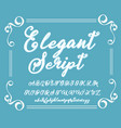 calligraphy tattoo alphabet english script vector image vector image
