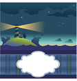 Card with lighthouse vector | Price: 1 Credit (USD $1)