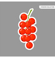 cartoon fresh red currant isolated sticker vector image