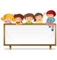 children on whiteboard banner vector image