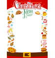 christmas menu layout vector image
