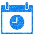 Clock Calendar Day Grainy Texture Icon vector image vector image