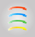 colored shiny glass ribbons on a gray background vector image vector image