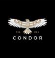 condor eagle bird monoline logo icon vector image vector image