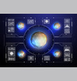 cyberspace virtual reality in hud style abstract vector image vector image