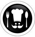 elegant chef sign vector image vector image