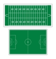 Field to play football vector image vector image