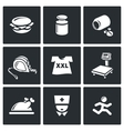 Fighting obesity organism icons set vector image vector image