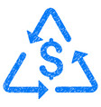 financial recycling icon grunge watermark vector image vector image