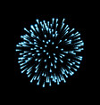 firework blue sparkle isolated background vector image vector image
