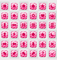 game match icon square shape set in different vector image vector image