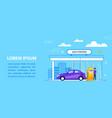 gas station concept car fuel service vector image vector image
