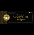 gift voucher template with glitter gold elements vector image vector image