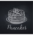 hand drawn pancakes on chalkboard vector image vector image