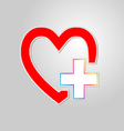 Heart with plus vector image