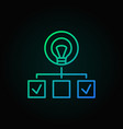 Hierarchy with lightbulb colored line icon start