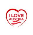 i love austria vector image vector image