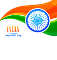indian flag design in wave style vector image vector image