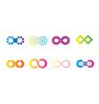 infinity-icon-set vector image