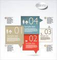 Infographic modern template vector image