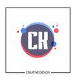 initial letter ck logo template design vector image
