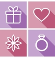 Line icons for valentines day or wedding design vector image vector image