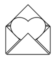 Love letter icon outline style vector image vector image
