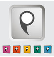 Map pin vector image vector image