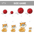 matching children educational game match cats vector image vector image