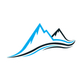 Mountain swoosh vector | Price: 1 Credit (USD $1)