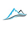 Mountain swoosh logo vector image vector image