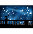 night sky and telescope vector image vector image