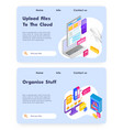 online cloud office upload files to cloud storage vector image