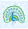 Peacock pattern background vector image