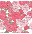 Pink rose on the white background vector image vector image