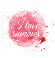 pink summer tropical background vector image
