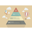 Pyramid Chart Infographic vector image