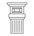 roman column icon outline style vector image vector image