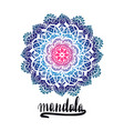 round decorative ornament element mandala vector image