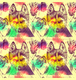 seamless pattern sketching of husky vector image