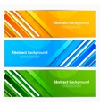 set banners with lines vector image vector image