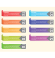 Set of colorful bookmarks Infographics background vector image vector image
