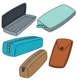 set of pencil case vector image vector image
